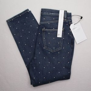 New CURRENT/ELLIOT High Rise Cropped Jeans Size 25